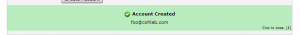 Step 4 Email Creation Success