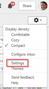 Step 7 Gmail Settings Menu