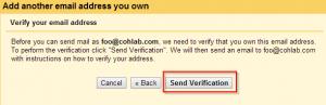 Step 9 Send Mail Verify Email Address
